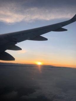 airplane sunrise
